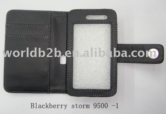 Leather case for Blackberry 9500, Book Model (new)