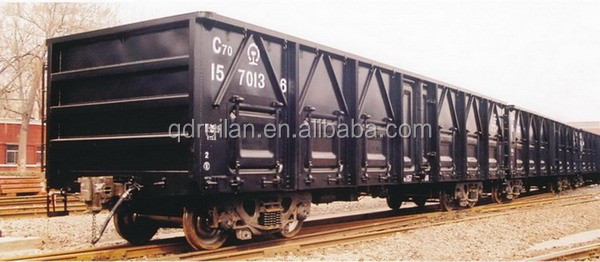 Hot sale C70 open top wagon; railway freight wagon car; train wagon car