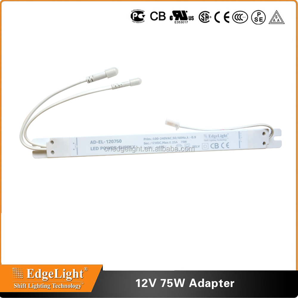 light box led driver 75W 220v ac 12v dc switching power supply