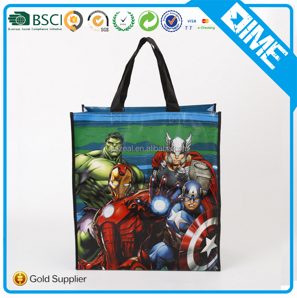 Cheap Advertising Promotion Pp Lamination Non Woven Tote Shopping Bag