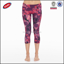 newest allover printed yoga leggings with elastic for girls