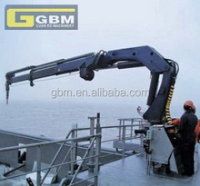 Hot sale 1t 28m used Small hydraulic marine telescopic and folding arm crane for sale with BV CCS CE Certification