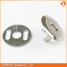Good for environment silver disc shape metal magnetic snap button for purses