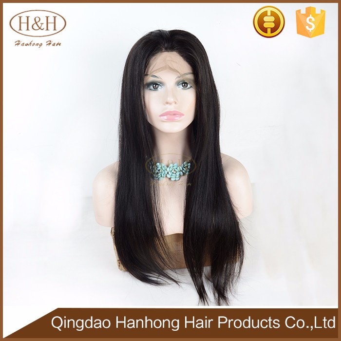 Natural color 14 inch brazilian bob human hair 180% density lace front wig with baby hair
