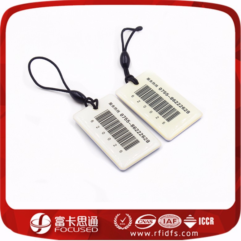 Factory Direct Sales Plastic MIFARE Key Fob With Barcode