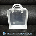 eco see-through clear vinyl pvc zipper bags with handles for baby starter kits