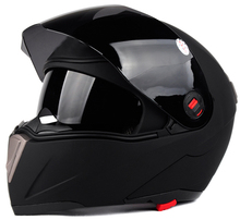 Hot selling matt black double visors flip up motorcycle helmet