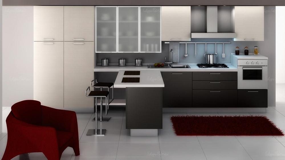 Various Simple Modern Dark Grey Kitchen Cabinet Designs Suitable For Different Rooms