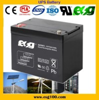 SOLAR UPS 12V 75Ah maintain free deep cycle battery lead acid battery for UPS system