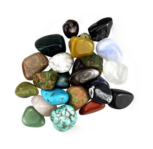 Bulk wholesale 15-25mm various mixed natural rock and minerals tumbled <strong>stone</strong>