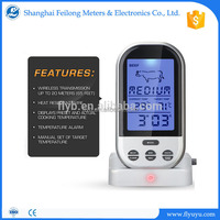 digital wireless thermometer lcd bbq meat for measure water temperature timer alert alarm