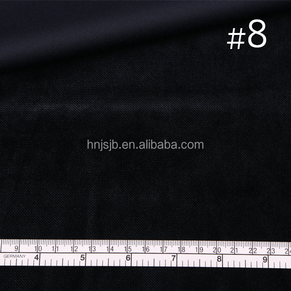 dark denim color cationic polyester velvet fabric for dress shoes material trousers
