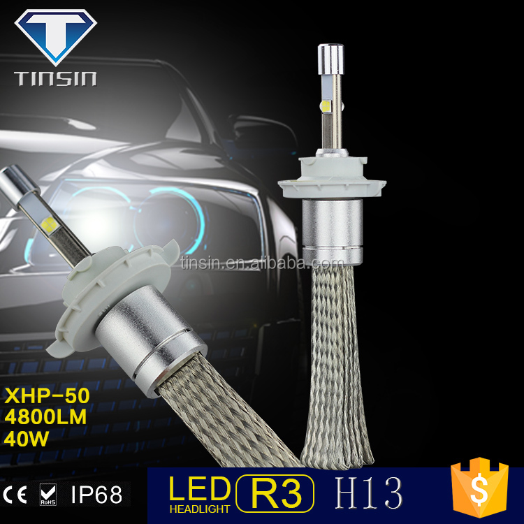 2016 Car Accessories Automobile 80W Led Headlight Bulb H13 led auto headlight