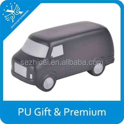 Best selling promo items pu toy foam mini fast food van for sale logo printed customized