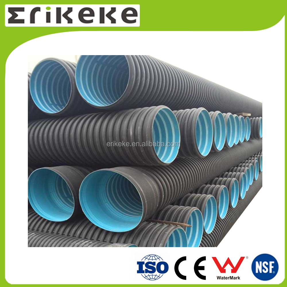 Competitive black hdpe double wall corrugated pipe price