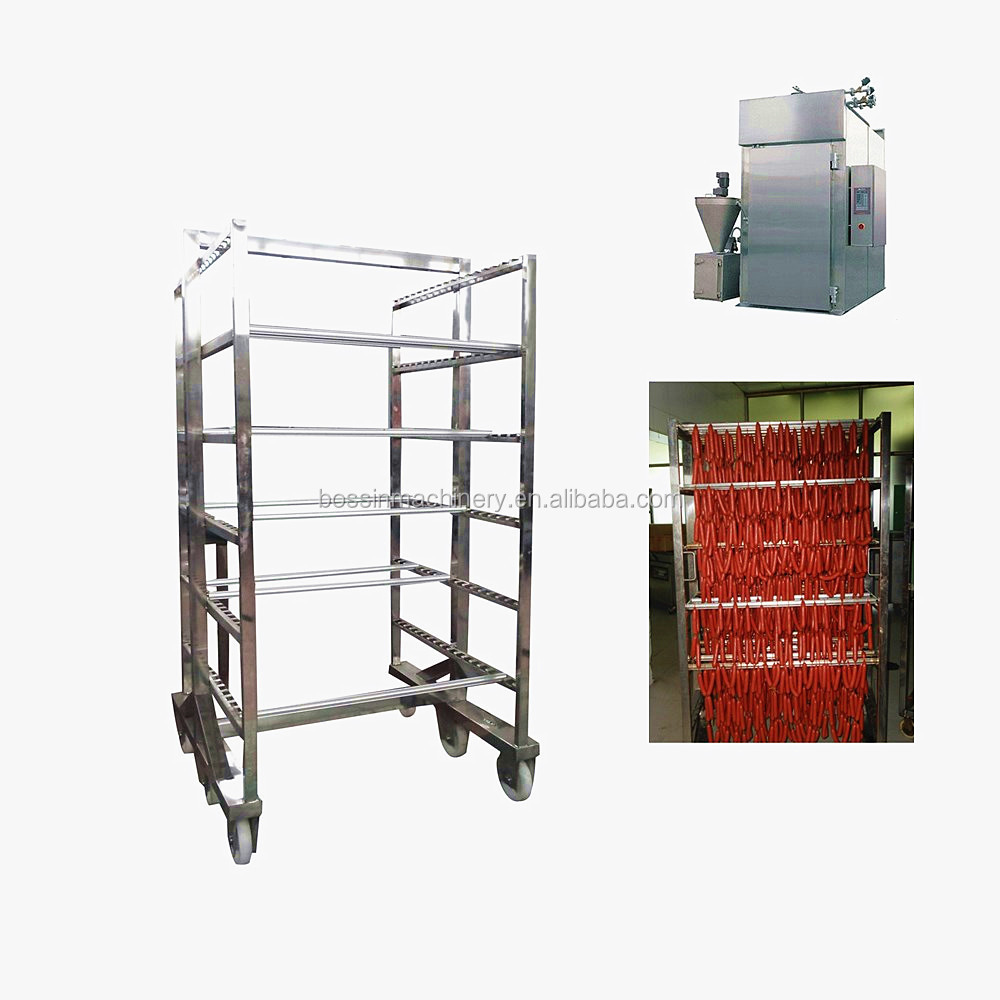 meat smoking chamber hanging trolley