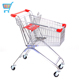 135L hot sale metal wire caddy store shopping trolley cart market metal supermarket shopping trolley cart
