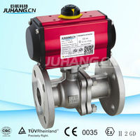 Pneumatic actuators mounted ball Valve