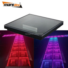 New arrival tempered glass SMD 5050 3IN1 RGB mixing Led dance floor panels light led for sale