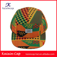 New fashion 5 panel tie dyed rope bill snapback cap