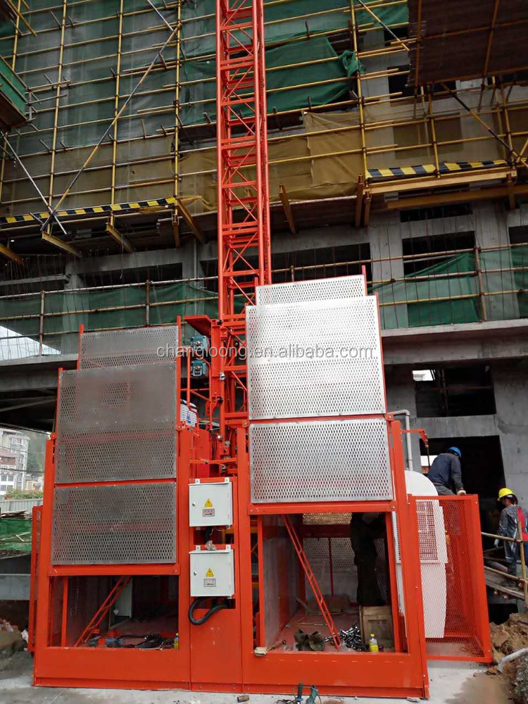 The construction of the elevator SC200/200