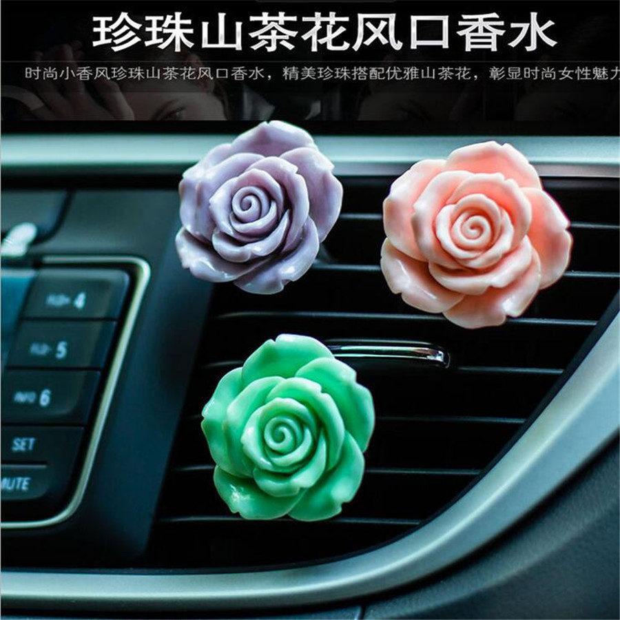 Flower Car Perfumes Air Conditioner Vent Outlet Air Freshener Colognes Fragrance Car styling Accessories car air freshener