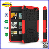 For kindle fire phone Hyperion Explorer 2-pc Hybrid Protective Stand Case / Cover--Laudtec