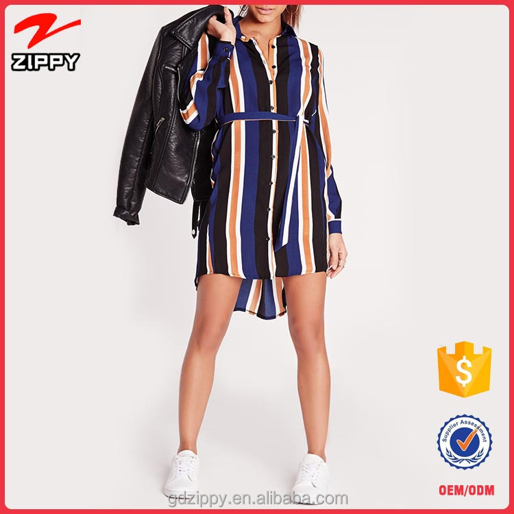 New Arrival Navy Stripe Fashion Summer Dress Design Casual Dress For Woman
