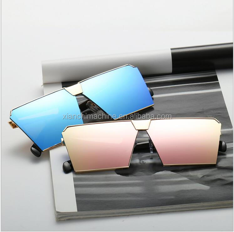 Acetate red frame mirror lenses ladies sunglasses, 2017 new sunglasses
