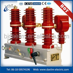 High Voltage Vacuum Circuit Breaker 33 kv Outdoor Type vcb