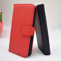 For Apple iphone 5 5G 5S Black Mobile Phone Wallet PU Leather Cover Skin Case