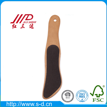 Yangzhou hot selling wooden handle nail cleaning file whole sale foot beauty file
