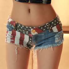 2017 Wholesale Night Club Women Sexy Jeans Tight Pants Denim Mini Shorts