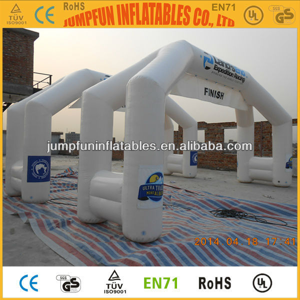 Inflatable Running Arch with LOGO print,Top quality sealed inflatable arch/Finish line/Start line with hanging banner