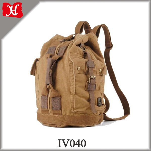 Vintage Men Military Canvas Leather Travel duffel bag Luggage Bag Shoulder Bag
