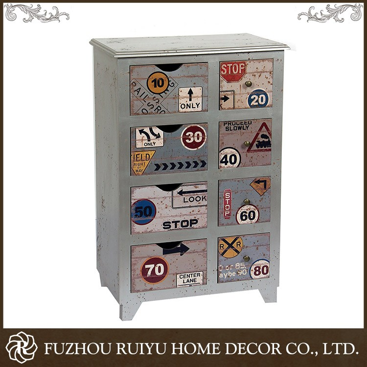 Retro OEM shabby chic vintage cabinet furniture