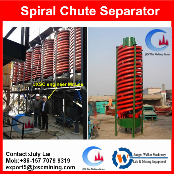 Iron ore separating machine,gravity spiral chute for tailing concentration