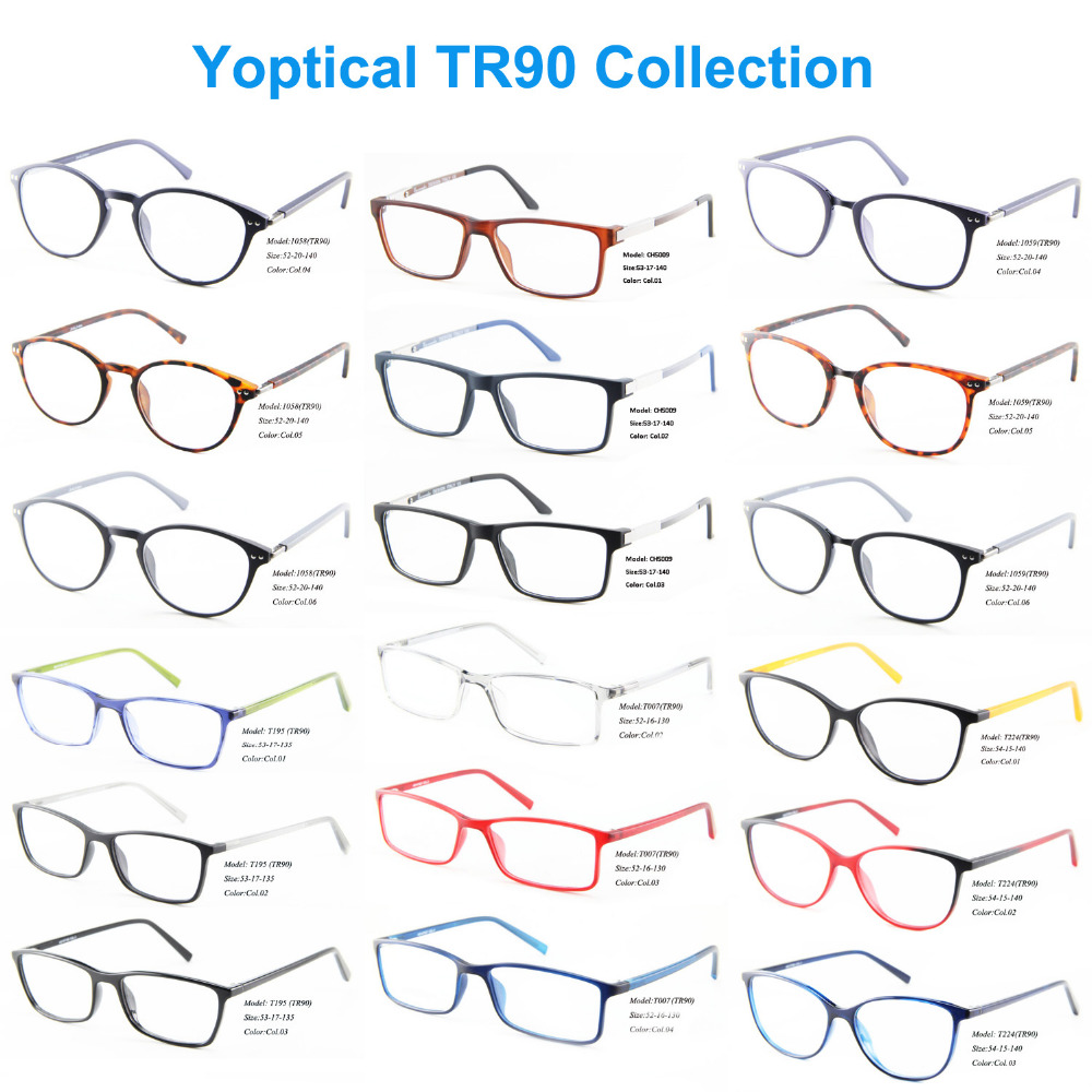 Wholesale Eye Wonder Men Women TR90 Optical Eyewear Frames Oculos de grau plastic glasses