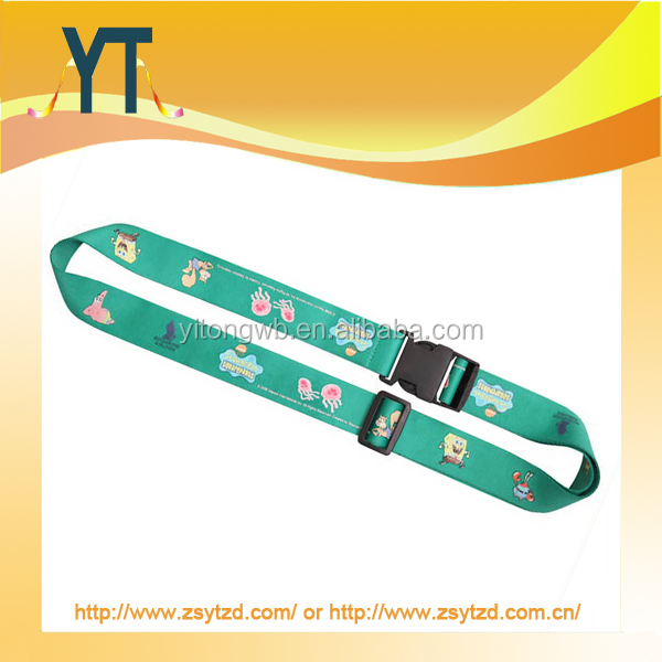 Heat transfer adjustable Luggage strap/ polyester luggage belt/ luggage accessory