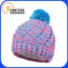 Sunny Shine new style product high quality cheap custom wholesale winter ski cute knit slouchy beanie hat