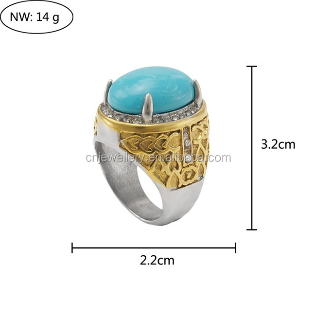 2017 Factory custom made cheap wholesale men 316l stainless steel rings with zircon