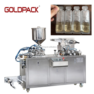 Alu PVC automatic small honey jam butter liquid blister packing machine