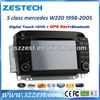 ZESTECH 2 Din Touch screen car stereo for Mercedes Benz S class W220 car dvd gps navigation system bluetooth tv ipod usb RDS AUX