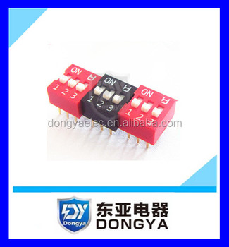 7 Position Slide Type 2.54mm DIP Switch