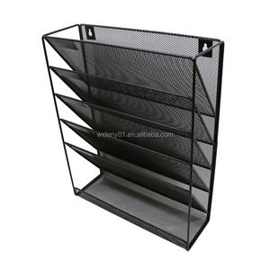Wideny office supply black metal wall hanging file organizer for holder