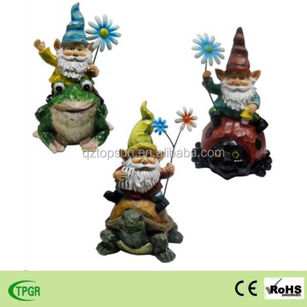 cheap polyresin gnome figurine sculpture for garden decoration