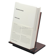 Dark Brown Acrylic Book Display Holder for Office
