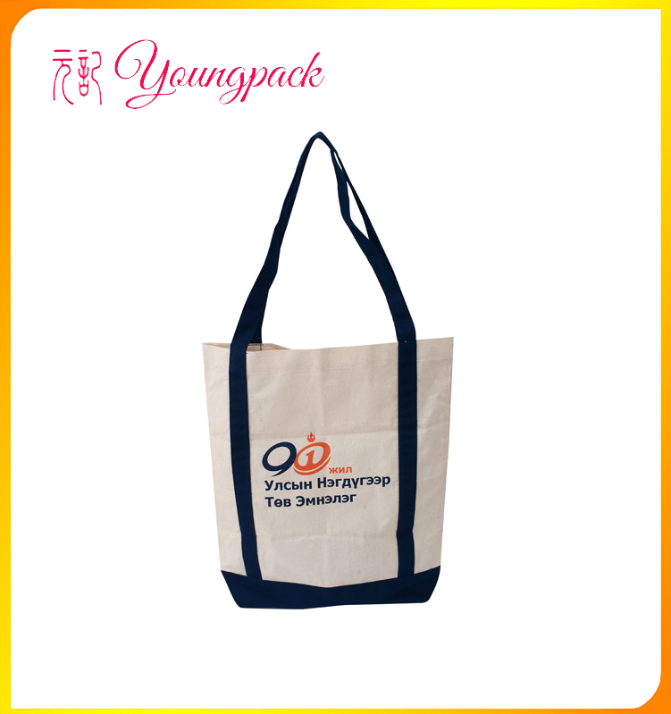 high quality promotional city name printed canvas tote bag