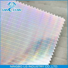 waterproof PU hologram leather fabric for shoes