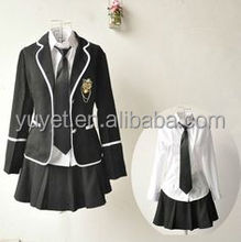wholesale school uniform Girls Tracksuits Sport Suits Shirt+coat+Skirt